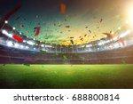 evening grand stadium... | Shutterstock . vector #688800814