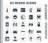 ramadan icons set. collection...   Shutterstock .eps vector #688803418