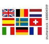 vector illustration of european ... | Shutterstock .eps vector #688804549
