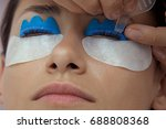 curling and laminating eyelashes | Shutterstock . vector #688808368