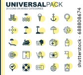 travel icons set. collection of ... | Shutterstock .eps vector #688808674