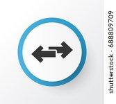 way pointer icon symbol.... | Shutterstock .eps vector #688809709