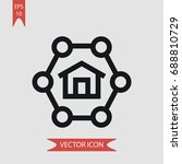 home vector icon  illustration...