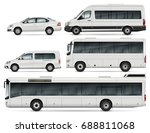city transport mock up   buses  ... | Shutterstock .eps vector #688811068