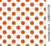 seamless pattern with polka dot....   Shutterstock .eps vector #688811938