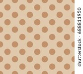 seamless pattern with polka dot....   Shutterstock .eps vector #688811950