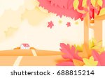 beautiful autumn leaves and...   Shutterstock .eps vector #688815214