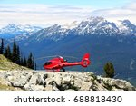 view on the helicopter from... | Shutterstock . vector #688818430