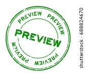 grunge green preview round... | Shutterstock .eps vector #688824670