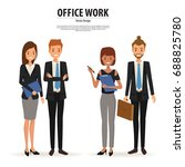 business people team work... | Shutterstock .eps vector #688825780