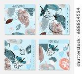 hand drawn creative invitation... | Shutterstock .eps vector #688834534
