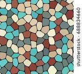stone plate paving seamless...   Shutterstock .eps vector #688834660
