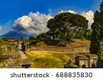 italy. the excavated ruins of... | Shutterstock . vector #688835830
