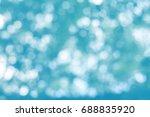 abstract bokeh blue background... | Shutterstock . vector #688835920