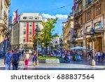 serbia  belgrade   july 26 ... | Shutterstock . vector #688837564