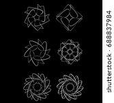 symmetrical geometric pattern ... | Shutterstock .eps vector #688837984