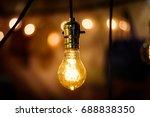 vintage lighting bulb decor  ...   Shutterstock . vector #688838350