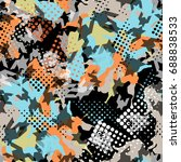 abstract seamless pattern... | Shutterstock . vector #688838533