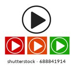 play icons.arrow sign icon.... | Shutterstock . vector #688841914