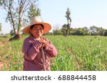 female farmer. agriculture and... | Shutterstock . vector #688844458