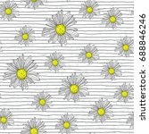 chamomile seamless pattern with ... | Shutterstock .eps vector #688846246