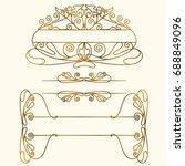vintage borders and frames | Shutterstock .eps vector #688849096