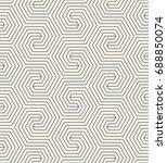 vector seamless pattern. modern ... | Shutterstock .eps vector #688850074