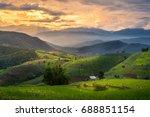 dramatic sunset at bong piang... | Shutterstock . vector #688851154