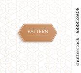 vector seamless geometric... | Shutterstock .eps vector #688853608