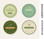 set of natural label and... | Shutterstock .eps vector #688856068