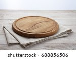 pizza board and canvas napkin... | Shutterstock . vector #688856506