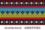 tribal pattern | Shutterstock .eps vector #688859080