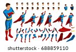 isometry is a set of gestures... | Shutterstock .eps vector #688859110