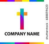 letter t logo design. abstract... | Shutterstock .eps vector #688859620