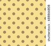 seamless pattern with polka dot....   Shutterstock .eps vector #688866808