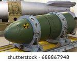 a warhead on a transport stand  ... | Shutterstock . vector #688867948