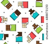 different chocolate types... | Shutterstock .eps vector #688873150