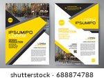 business brochure. flyer design....   Shutterstock .eps vector #688874788