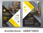 business brochure. flyer design.... | Shutterstock .eps vector #688874800