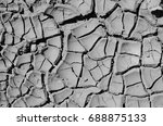 gray cracked paint  texture ... | Shutterstock . vector #688875133
