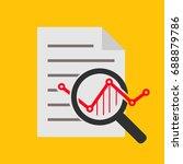 analysis line icon | Shutterstock . vector #688879786