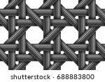 vector seamless realistic... | Shutterstock .eps vector #688883800