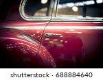 door and window details of red...   Shutterstock . vector #688884640
