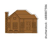 modern house icon | Shutterstock .eps vector #688887586