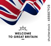 welcome to great britain. great ... | Shutterstock .eps vector #688887928