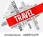 travel word cloud collage ... | Shutterstock . vector #688891699