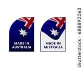 stickers made in australia.... | Shutterstock .eps vector #688892263