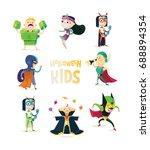 halloween.set of children in... | Shutterstock .eps vector #688894354