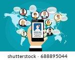 social network  people...   Shutterstock .eps vector #688895044