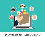 concept for fast online...   Shutterstock .eps vector #688895140